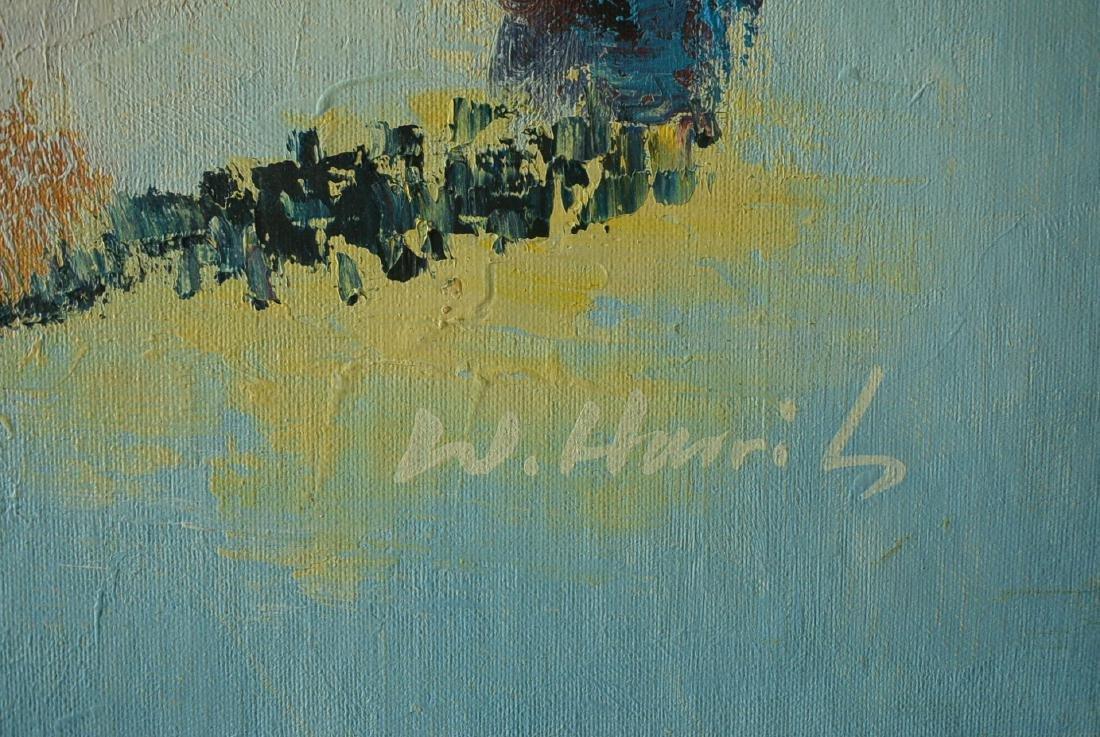 Oil painter W. Hurris abstractionist school Oil painti - 3