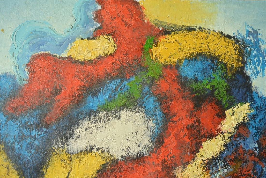 Oil painter W. Hurris abstractionist school Oil painti - 4