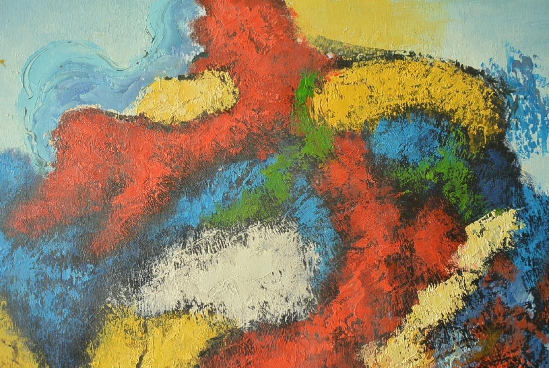 Oil painter W. Hurris abstractionist school Oil painti - 5