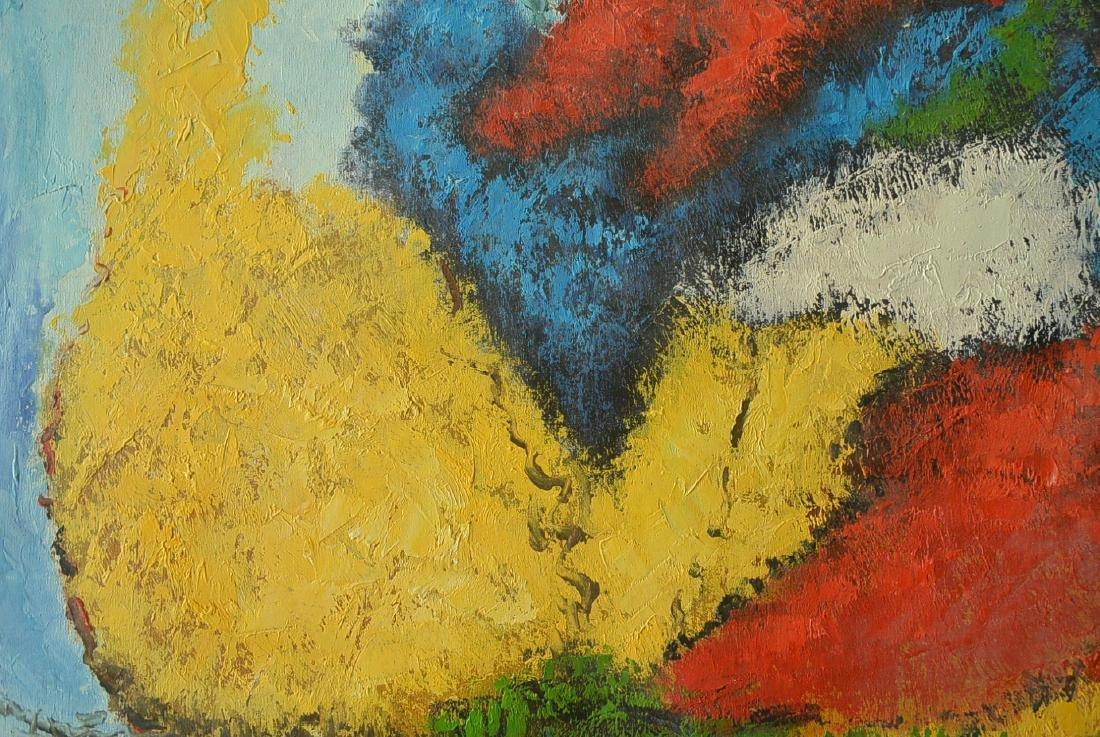 Oil painter W. Hurris abstractionist school Oil painti - 6