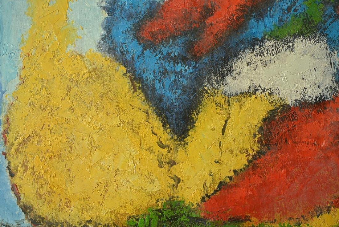 Oil painter W. Hurris abstractionist school Oil painti - 7