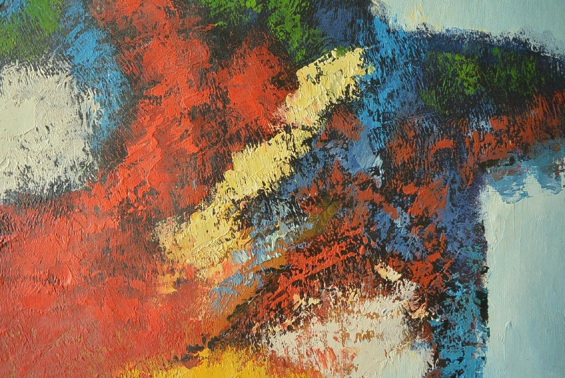 Oil painter W. Hurris abstractionist school Oil painti - 8
