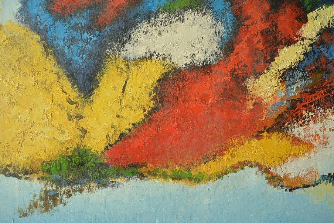 Oil painter W. Hurris abstractionist school Oil painti - 9