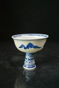 Finely Chinese Porcelain BLUE WHITE CUP
