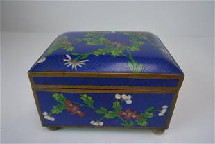 A finely Chinese metal enamel color flowers
