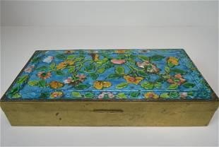 Antique Chinese Copper Enamel box