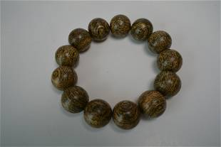 Hainan tiger skin incense bracelet