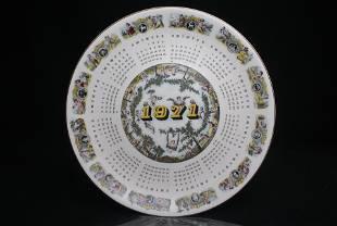 Wedgwood Calendar Plate 1971 Collectors Display