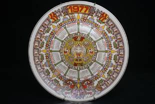 Wedgwood Calendar Plate 1977 Collectors Display