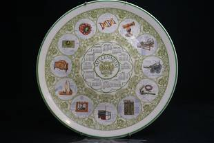 Wedgwood Calendar Plate 2001 Collectors Display