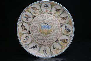Wedgwood Calendar Plate 1990 Collectors Display