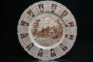 Royal Staffordshire Calendar Plate 1962 Collectors