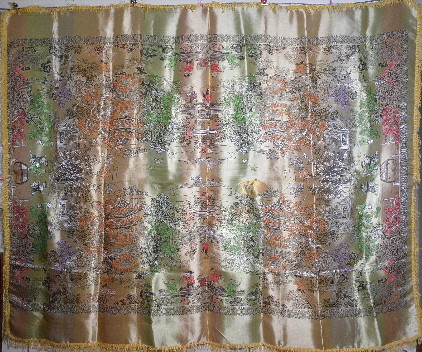 Chinese big size traditional textile tablecloths from