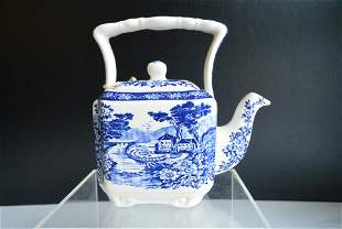 Porcelain antiques western art Spring scenery tea pot