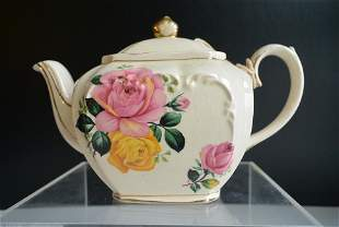 Porcelain beautiful western art Peony tea pot