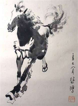 Painting,  XU BEI HONG Galloping horse painting