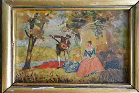 Antique Western Oil Painting