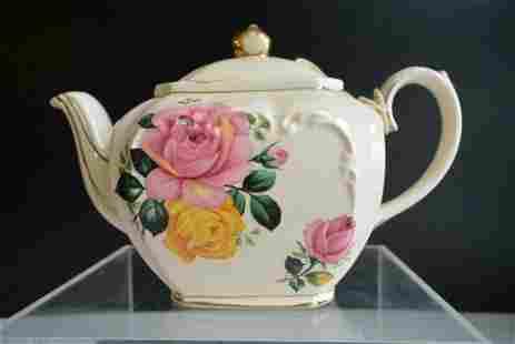 Porcelain, A beautiful western art Peony tea pot