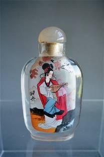Beijing interior snuff bottle painting Zhaojun's story