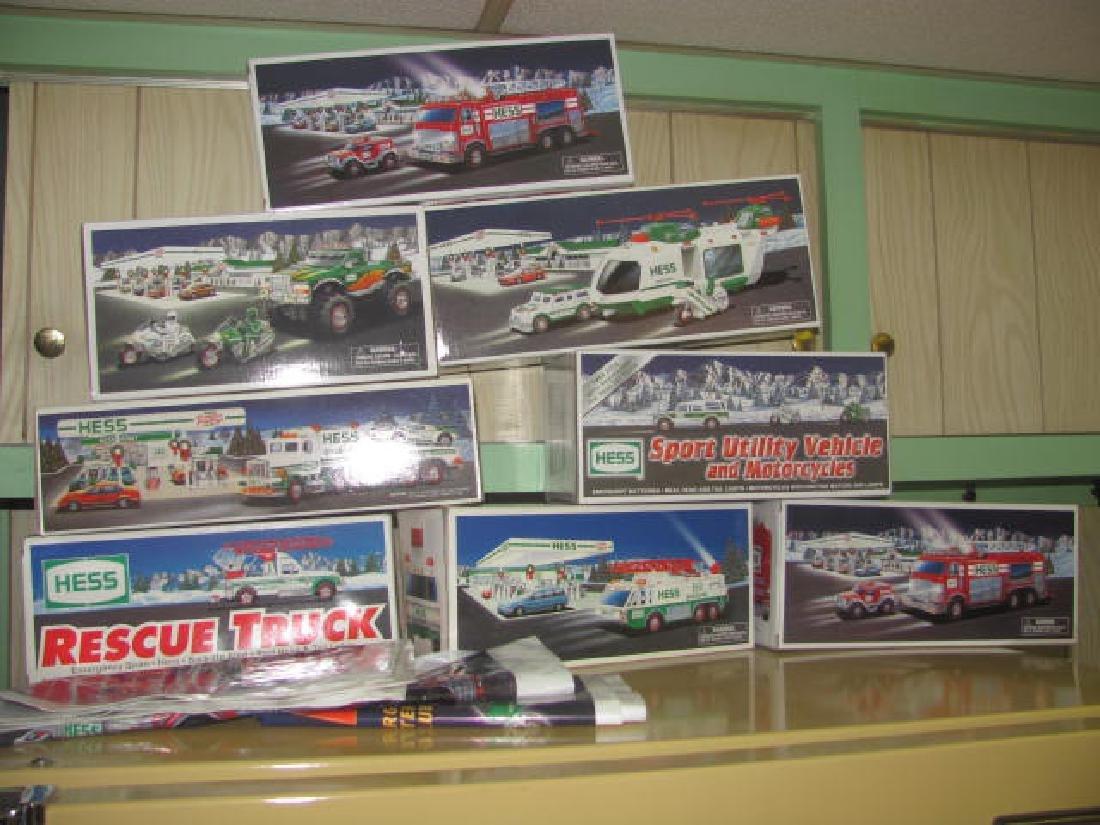 8 Hess Trucks in Box