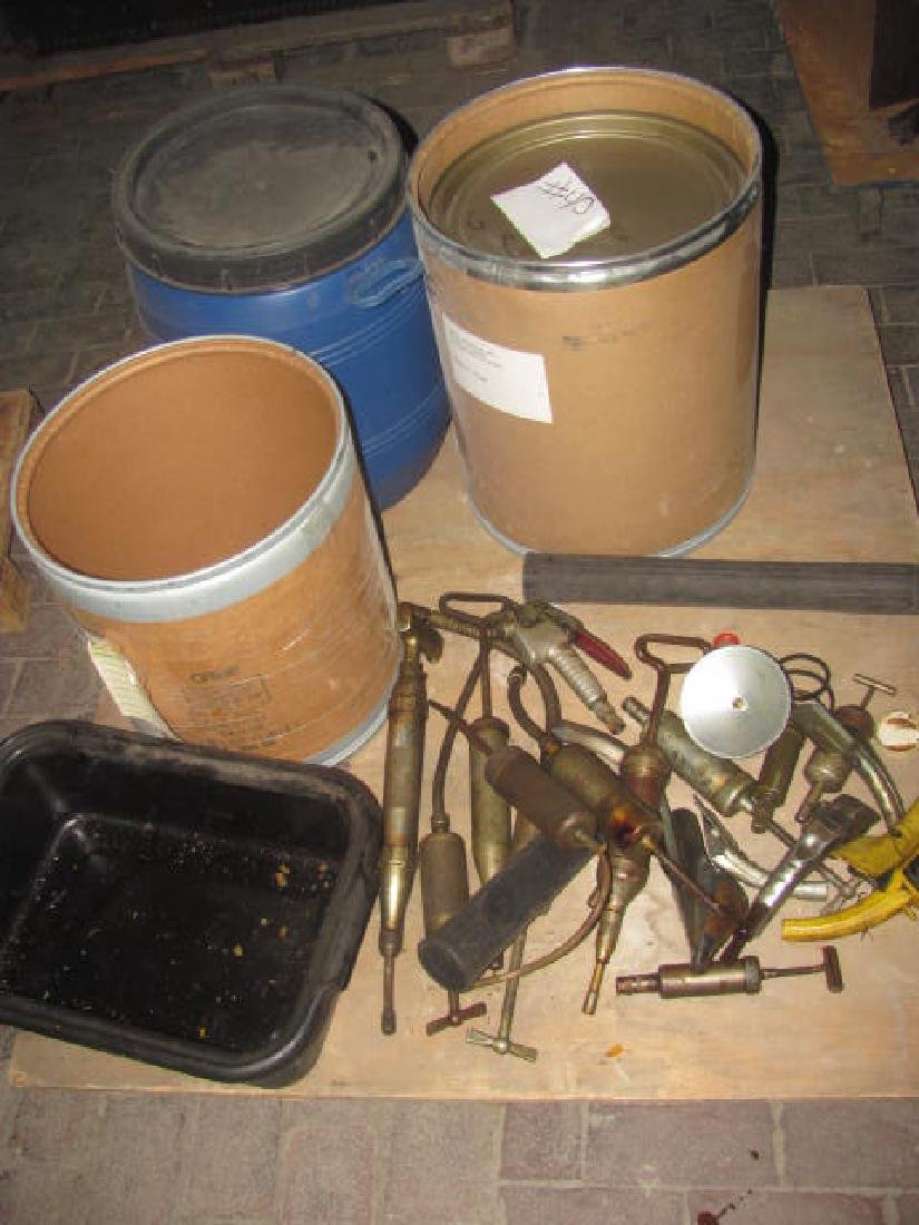 Pallet Lot of Grease Guns Oil Can Spouts