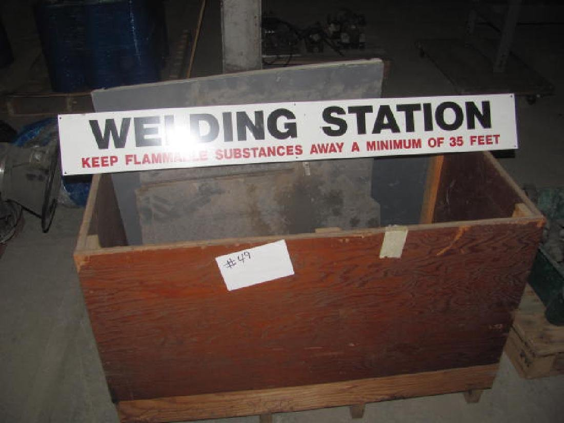Welding Station Sign & Steel Lot