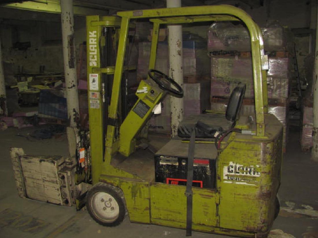 Clark Forklift w/ Drum Grip Grabber - 3