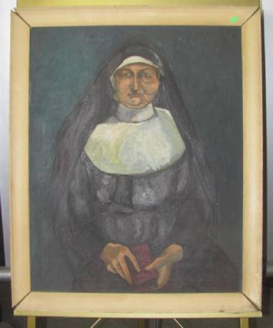 Oil On Canvas Nun