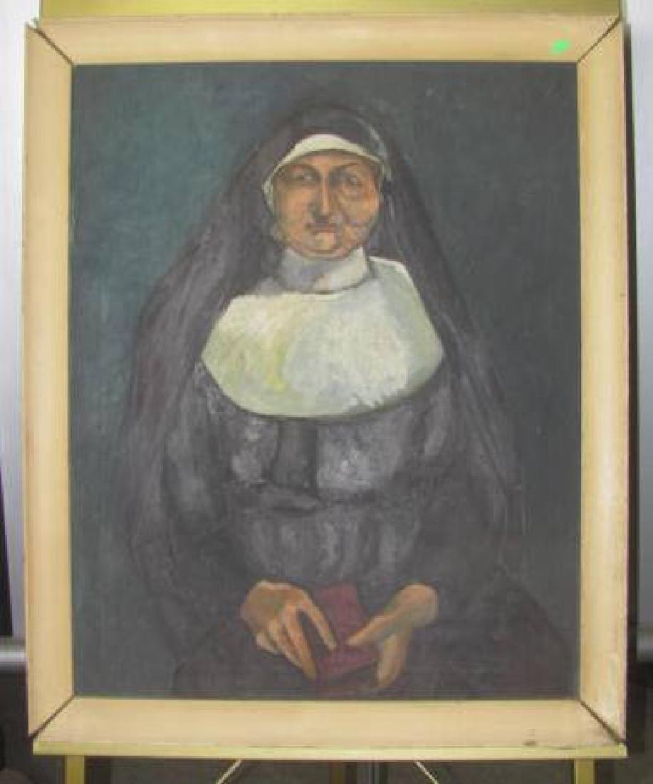 Oil On Canvas Nun
