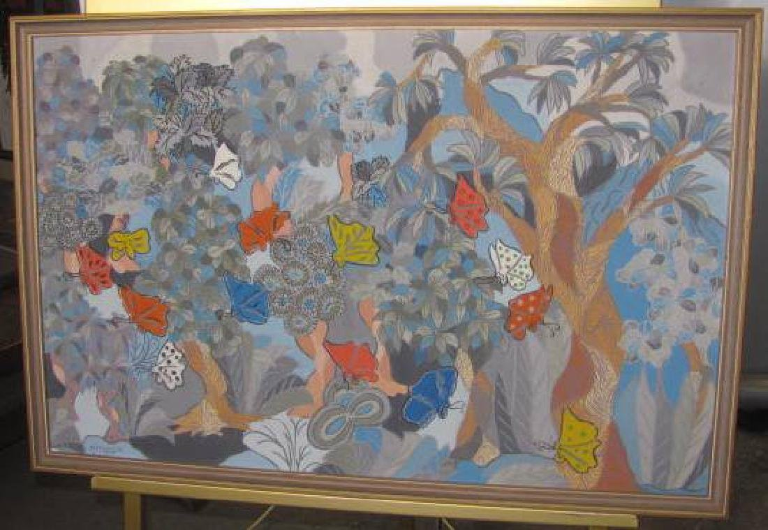 Minggir Oil On Canvas Painting