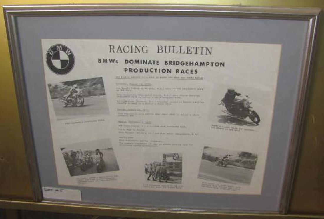 BMW Motorcycle Racing Bulletin