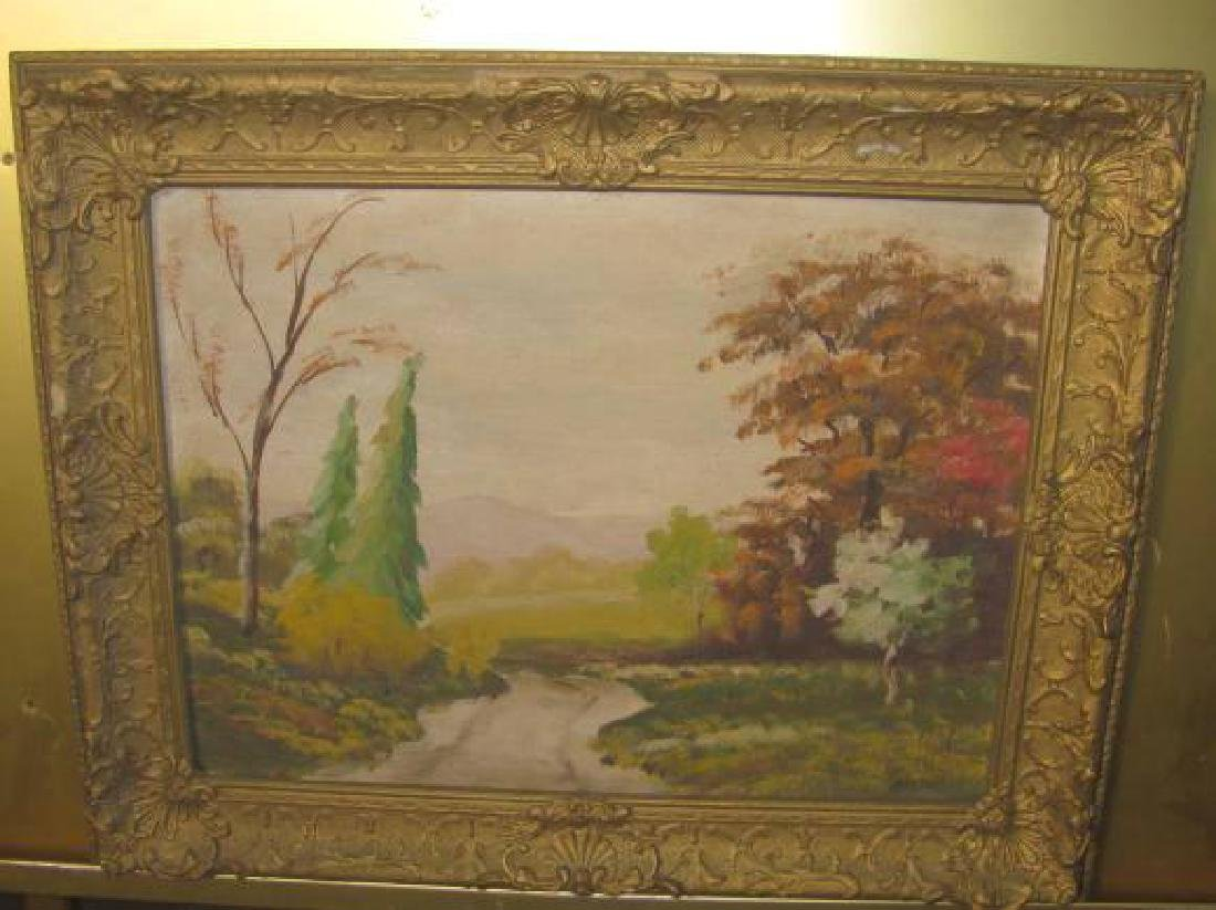Martin Oil on Canvas Landscape