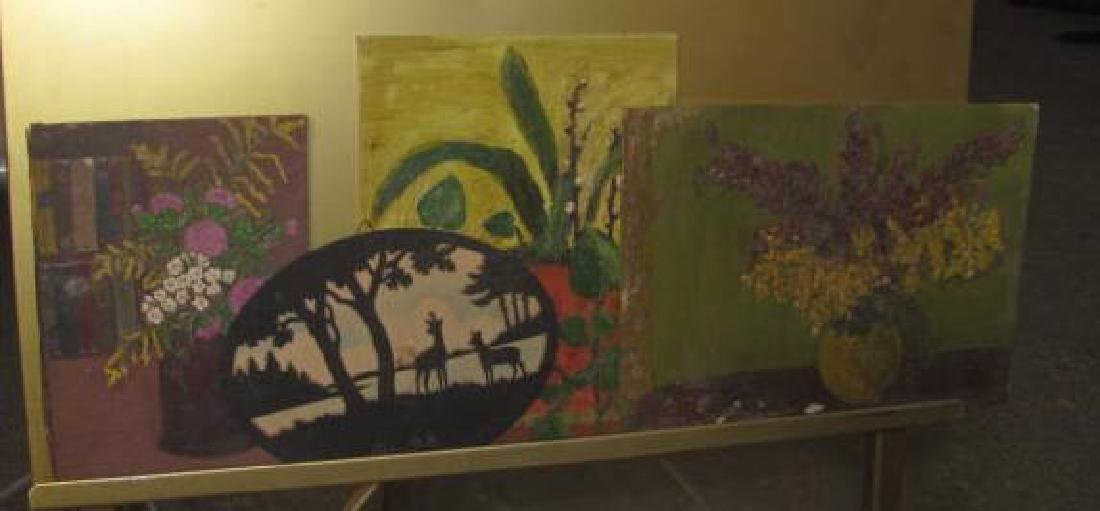 Lot of Misc. Oil on Boards - 3