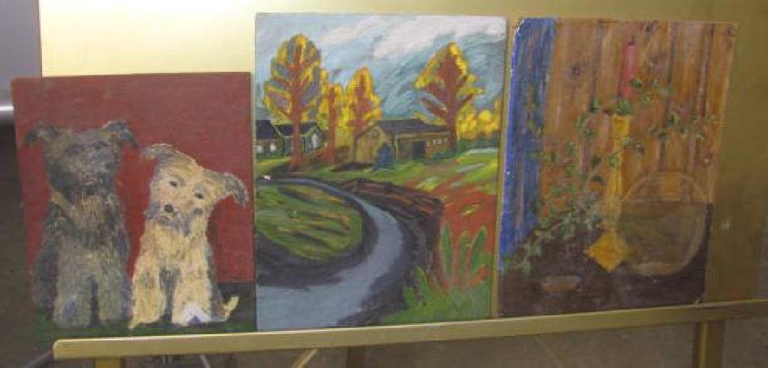 Lot of Misc. Oil on Boards - 6