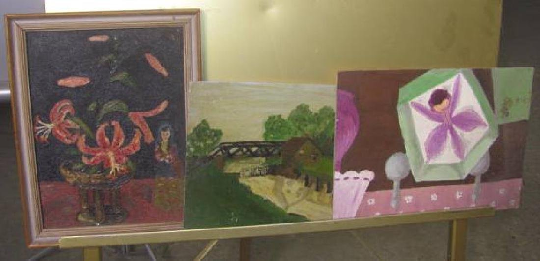 Lot of Misc. Oil on Boards - 8