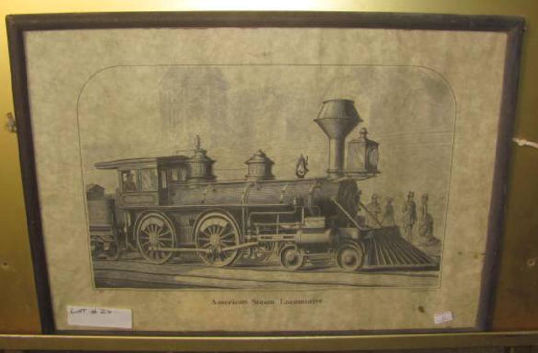 American Steam Locomotive Print