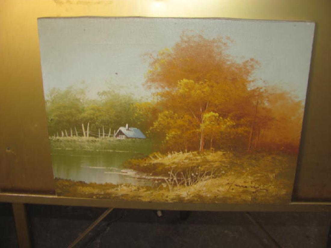 Water Landscape Scene Oil on Canvas