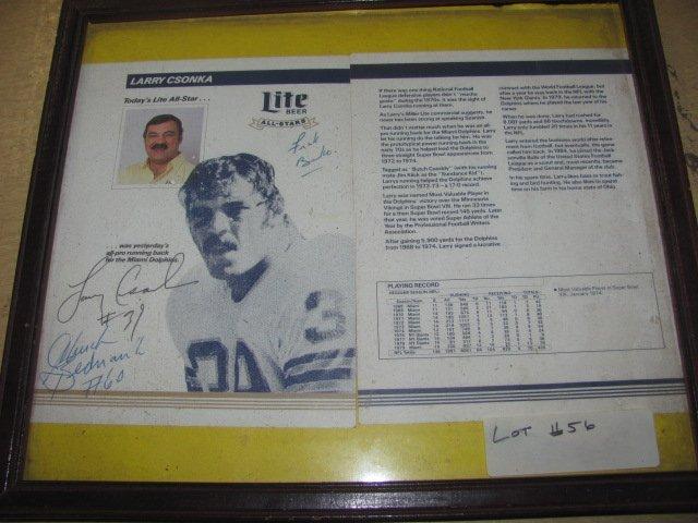 Larry Conska Signed Football Program