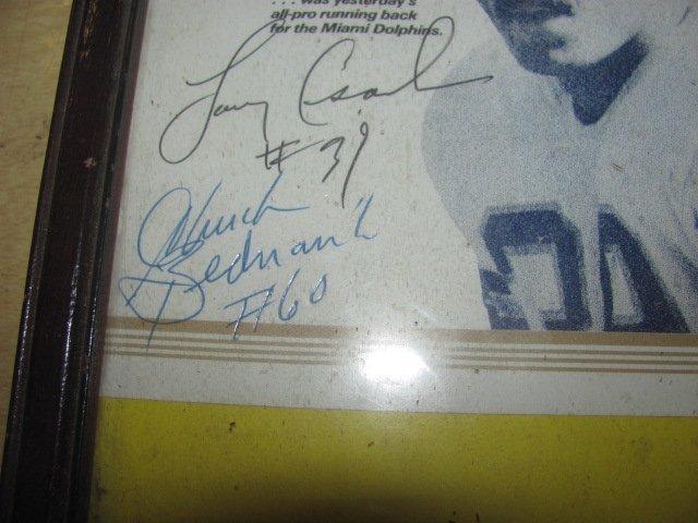 Larry Conska Signed Football Program - 2
