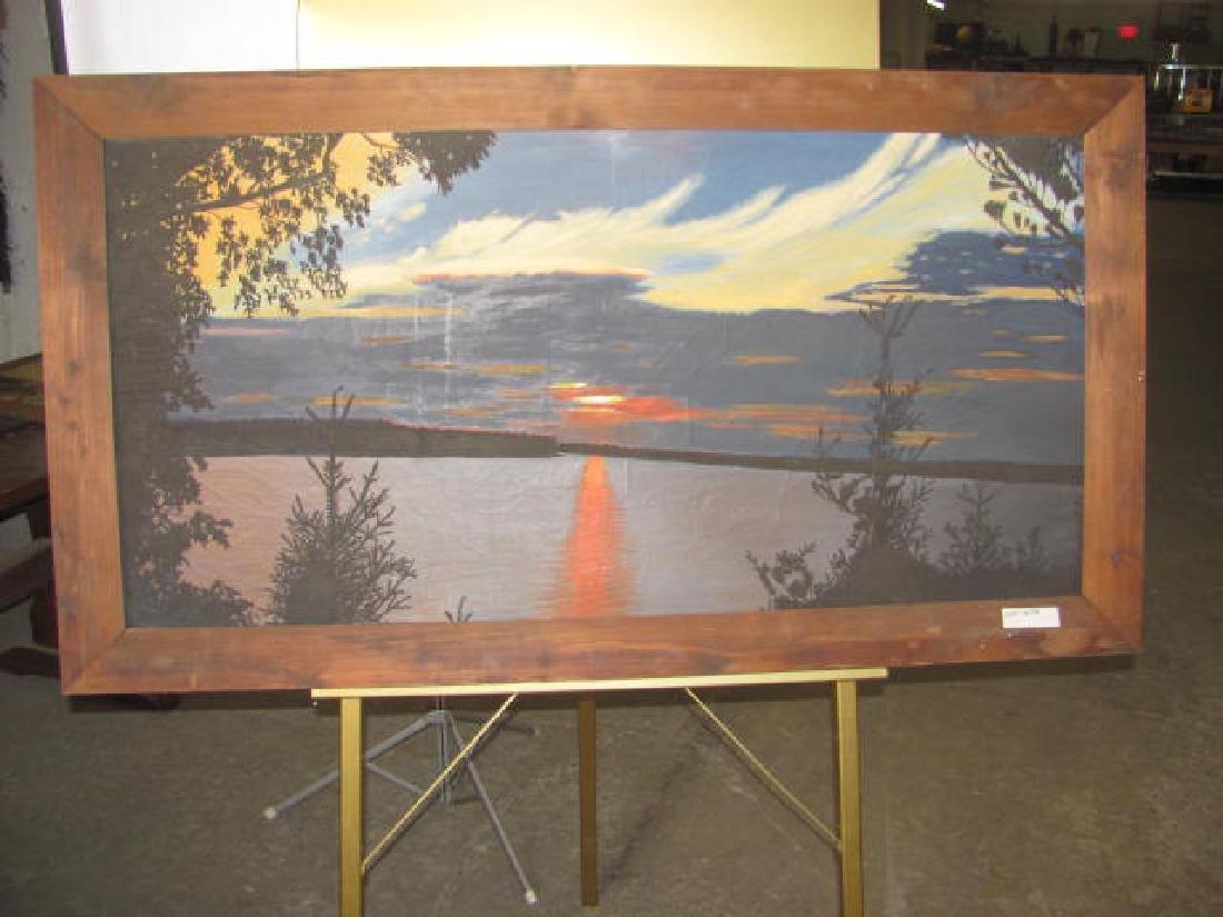 Landscape Water Scene Oil on Canvas