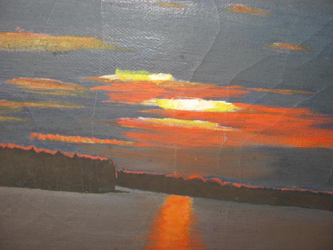 Landscape Water Scene Oil on Canvas - 2