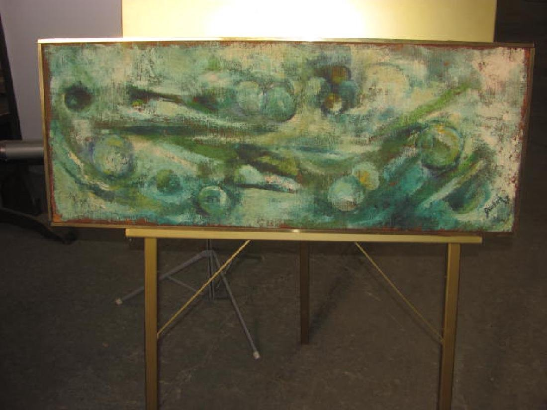 Oil on Burlap E. Deutsch