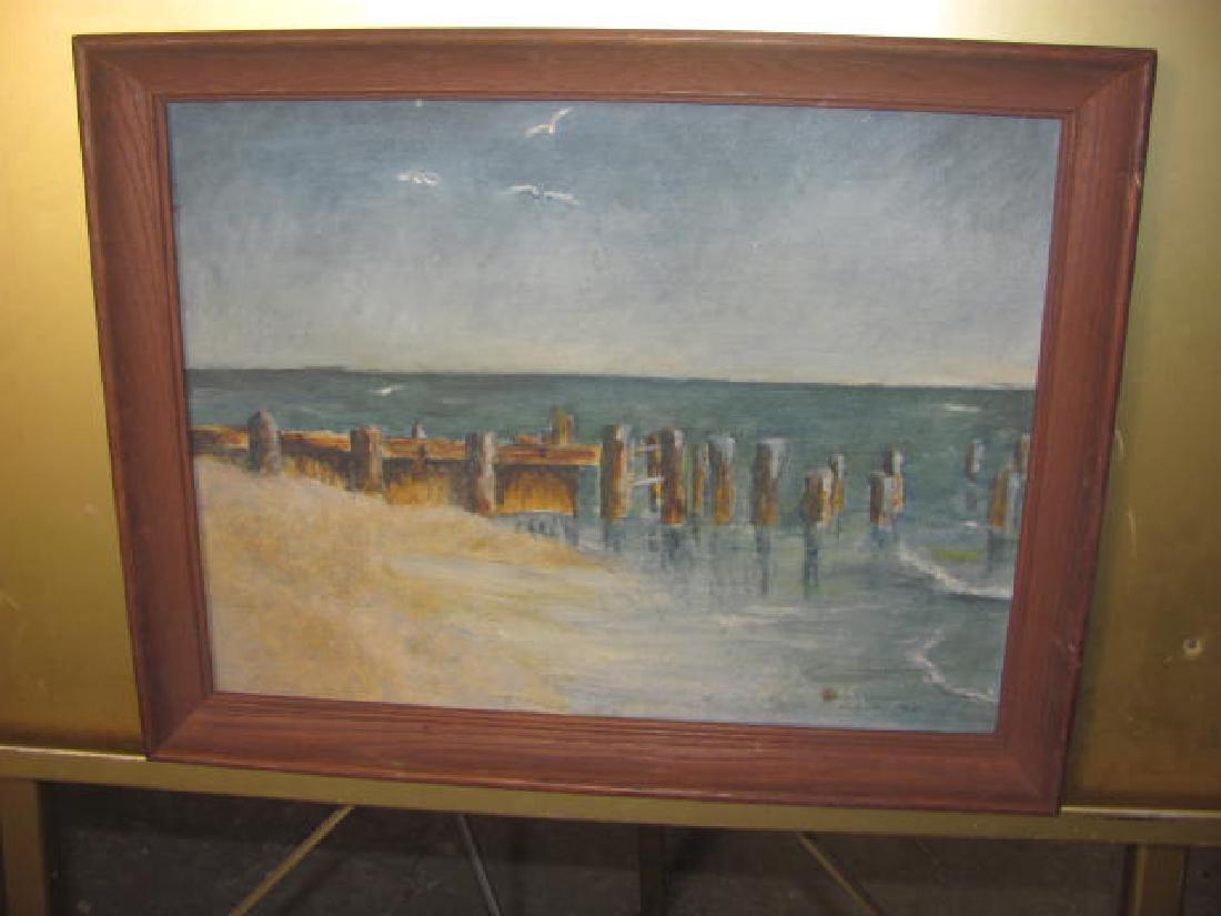 Seascape Oil on Board by Joseph Cashore