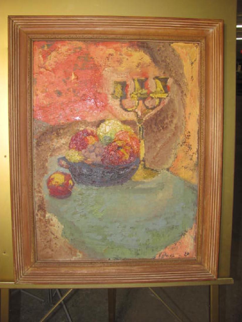 Still Life Oil on Canvas E. Deutsch