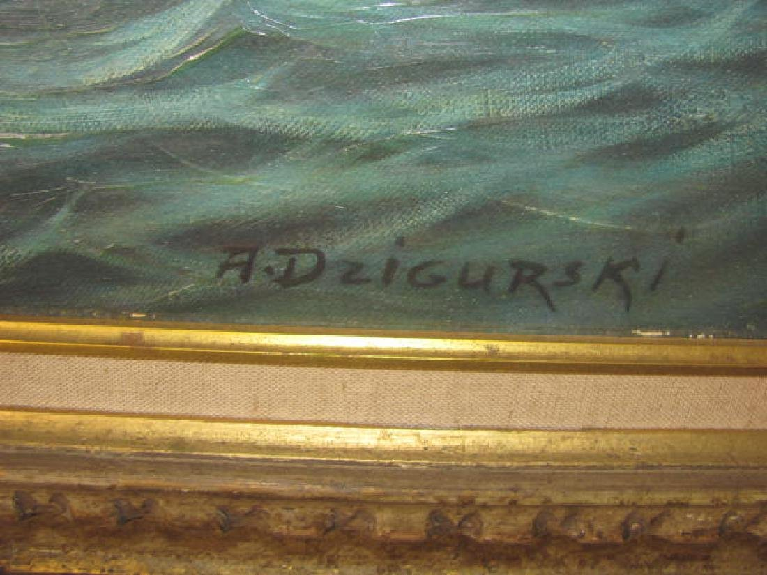 A. Dzigurski Oil on Board - 2