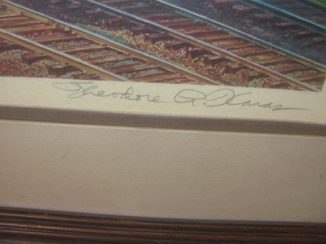 1981 Signed Locomotive Train Print - 2