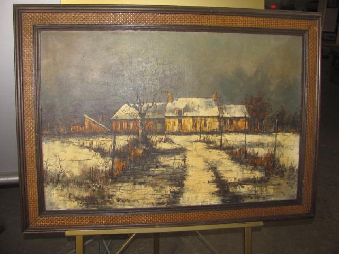 Winter Farm Scene