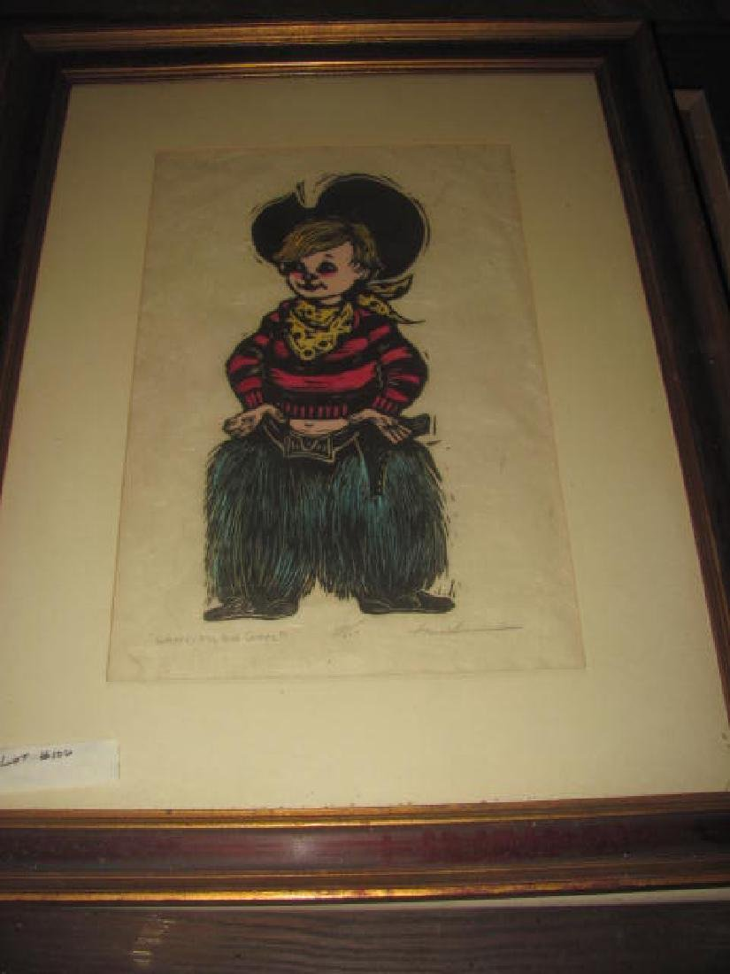 Misc Prints Drawings Painting Lot - 3