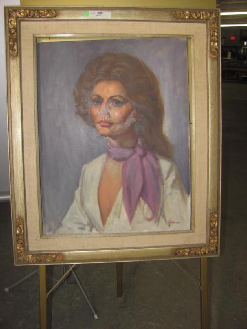Stanley Gordon Oil on Canvas Portrait