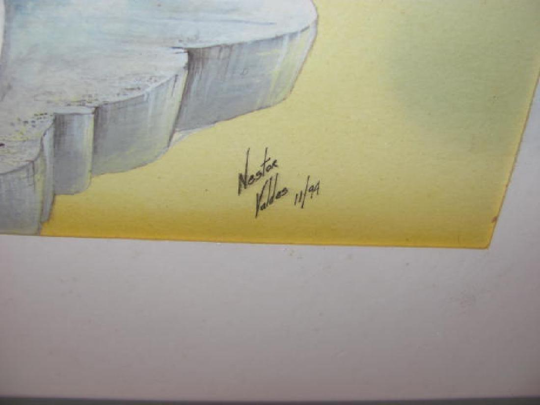 Nestor Valdes water color / print - 2